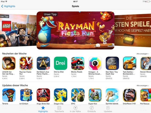 Im App Store findet ihr täglich neue Spiele aller Art.
