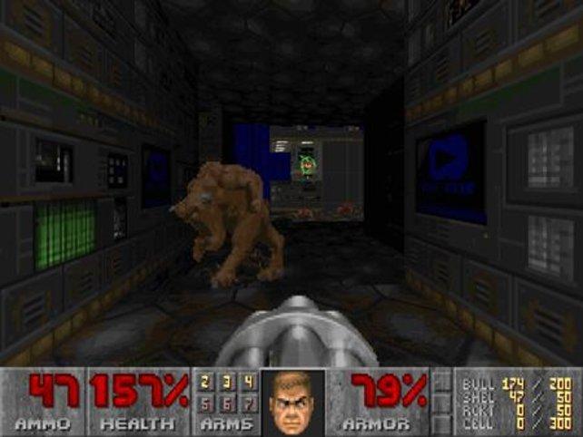 Auch das erste Doom könnt ihr hier spielen. Das stammt aus dem Jah 1993.
