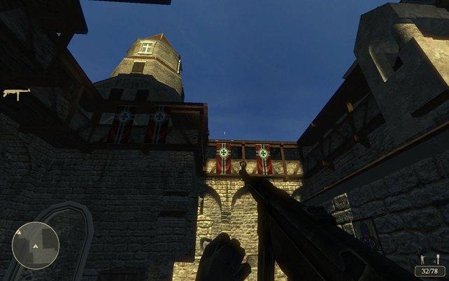 Das einzige Mal im Spiel, dass Ihr ein Azurblau erblickt. Die meiste Zeit verbringt Ihr in dunklen Gängen und Räumen.