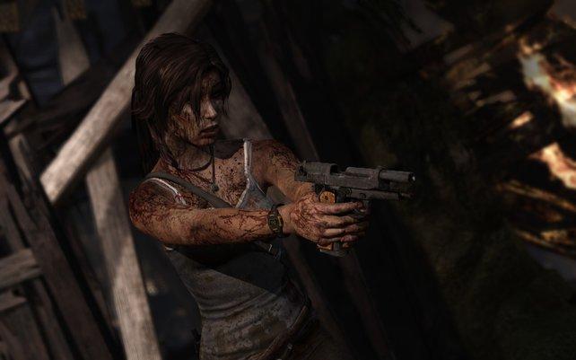 In ihrem Abenteuer ist Lara Croft dazu gezwungen Menschen zu töten.