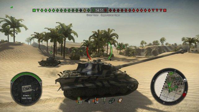 """Die Wüstenkarte """"Wadi"""" ist wie geschaffen für Panzerduelle auf große Distanz."""