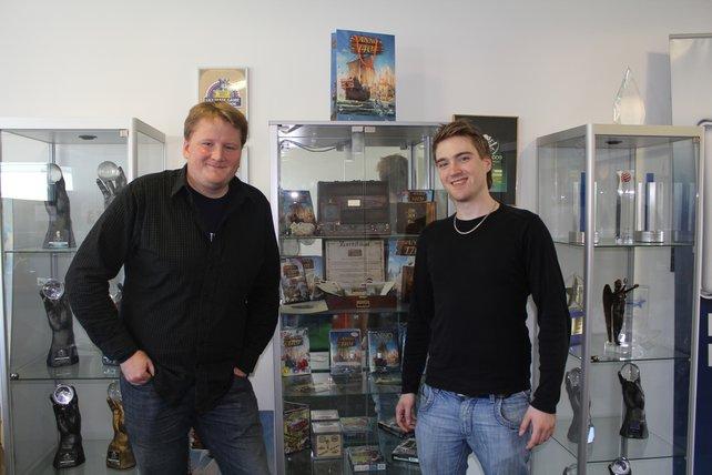 Produzent Christopher Schmitz (links) deutet Interessantes an - was uns wohl noch erwartet?