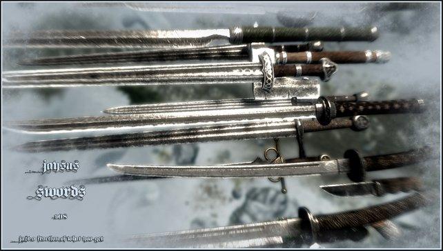 """42 Waffen - da fällt die Auswahl nicht leicht. Ihr könnt sie alle in der Rublik """"Stahl"""" finden und schmieden."""