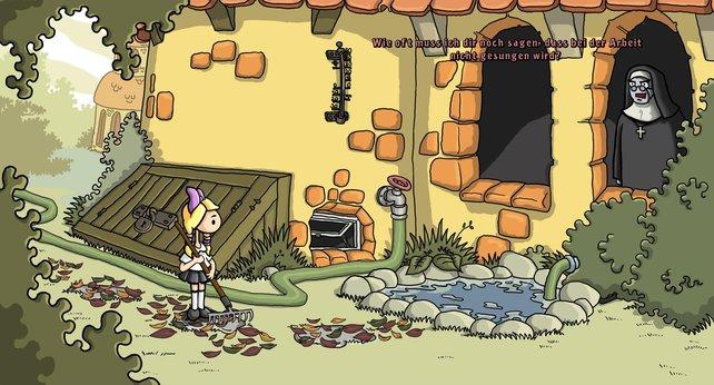 Die Leiterin der Klosterschule verbietet Lilli jeglichen Spaß.