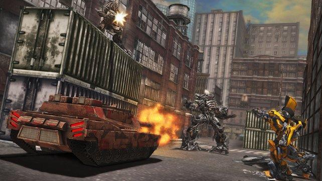 Ballereien im Fahrzeugmodus gehören zum neuen Repertoire der Transformers.