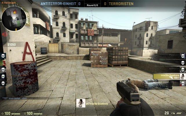 Klassische Karten wie Dust 2, klassische Waffen wie die Glock-18 - ja, das ist Counter-Strike.