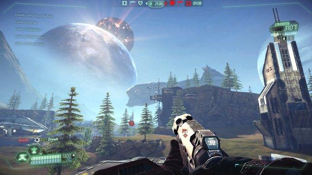 Der kostenlose Mehrspieler-Shooter Tribes - Ascend sieht gut aus und spielt sich rasant.