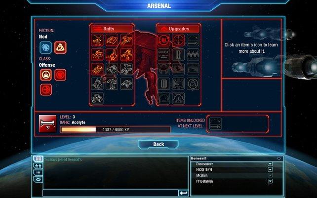 Im Menü könnt ihr euren Fortschritt ablesen und Informationen zu den Einheiten und Gebäuden bekommen.