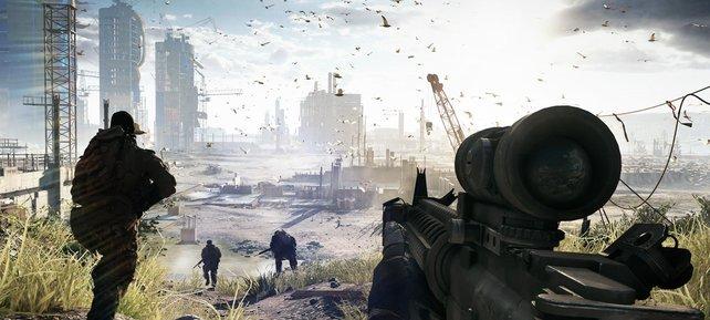 Epische Schlachten auf optisch großartigen Umgebungen - so soll Battlefield 4 werden.