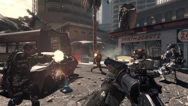 Spannend bis zum letzten Schuss: Mit anderen Spielern läuft Ghosts zur Höchstform auf.