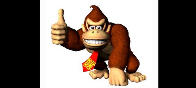Donkey Kong freut sich über seinen ersten Auftritt in 3D.