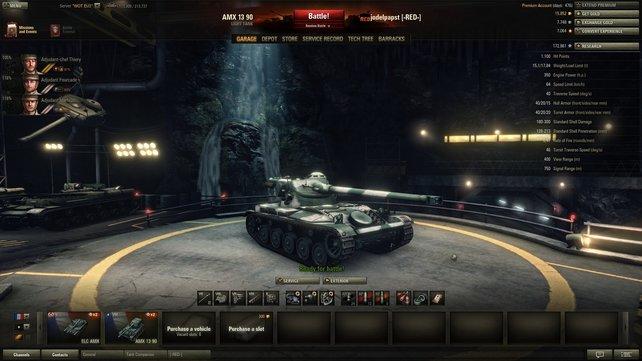 Wie ein Schulhofrüpel: Der AMX 13 90 kann austeilen aber nicht einstecken.
