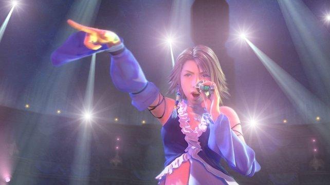Als Pop-Diva vergrault Yuna ihre Gegner. Kenner wissen allerdings, das hier nicht unbedingt Yuna zu sehen ist.