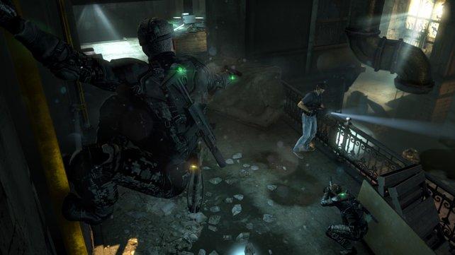 """Bis zu acht Spieler lauern sich gegenseitig bei """"Spies vs. Mercenaries"""" auf."""