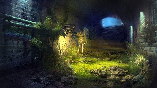 Der Eingang zum Tunnelsystem Agartha.