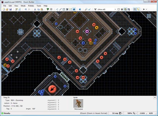 Mit Editoren wie dem Doom Builder erstellt ihr eigene Levels.