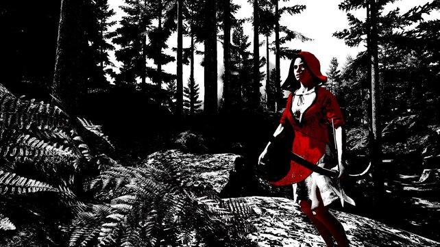Die Dame in Rot schießt euch Pfeile mit Nachrichten zu.