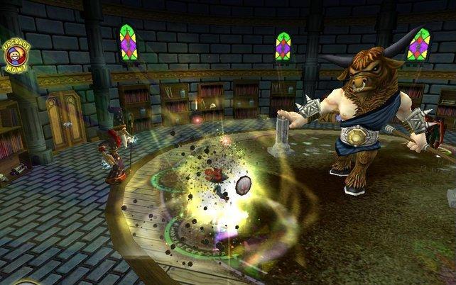 Die Kämpfe erinnern ansatzweise an Final Fantasy.