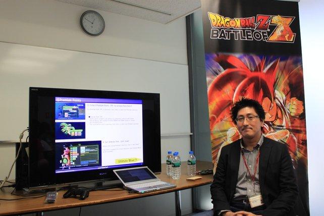 Vor Ort in Tokio präsentiert Produzent Kunio Hashimoto das Spiel.