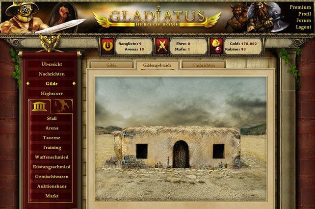 In Gladiatus gibt es auch Gildengebäude mit einem nützlichen Markt.