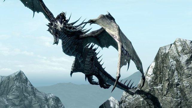 Drachen dürft ihr in Dragonborn als Reittiere benutzen.