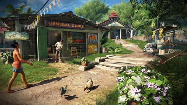So beschaulich wie in Amanaki Town geht es in Far Cry 3 selten zu.