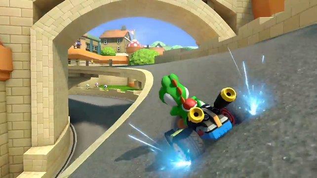 Kein Mario Kart ohne langgezogene Drift-Einlagen.