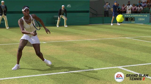 In Grand Slam Tennis 2 finden sich namhafte Spieler wie Serena Williams.