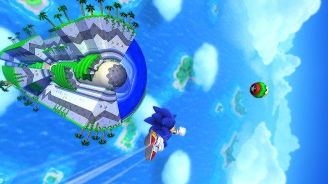 Beim neuen Sonic lässt die Wii U die Grafikmuskeln spielen.