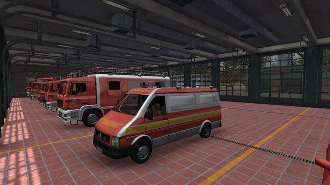 In eurer Garage stehen nach einiger Zeit mehrere Feuerwehrautos.