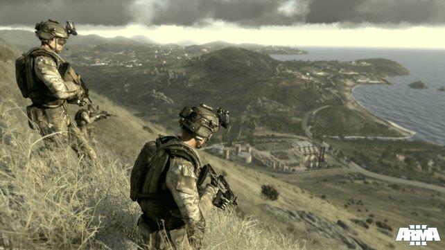 Arma 3 spielt auf einer griechischen Insel.