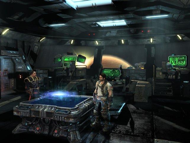 Die Missionsauswahl in der Wings of Liberty-Kampagne erfolgte auf einem Raumschiff.