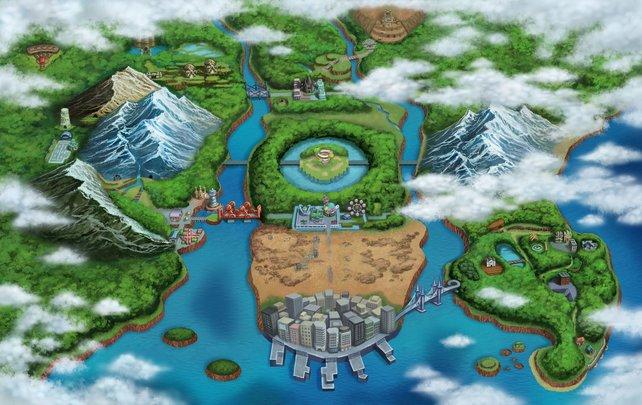 Die neue Einall-Region wartet auf viele Pokémon-Fänger.