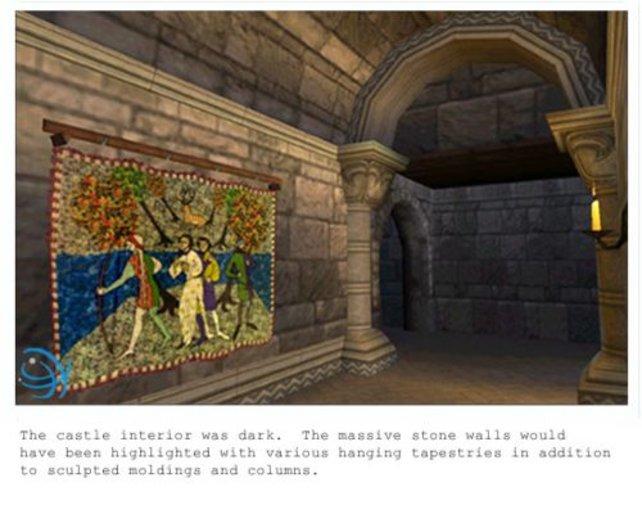 Die dunklen Gewölbe der Burg