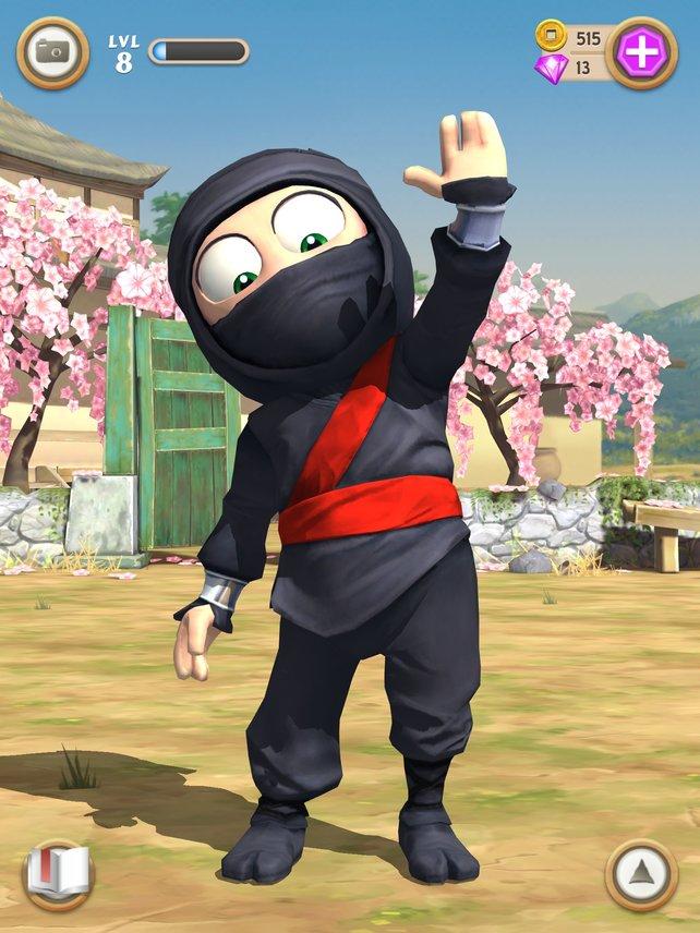 Gib mir fünf! Der trottelige Ninja braucht immer wieder Aufmunterung.