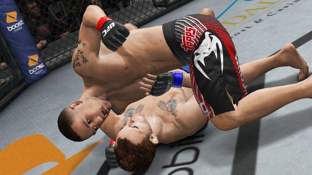 Erstaunlich: Die Kämpfer-Modelle verhaken sich kein einziges mal ineinander, wie es bei anderen Spielen oft passiert.