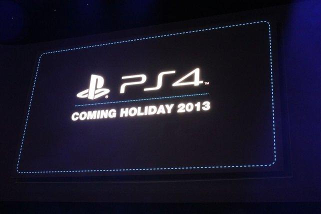 Die PS4 erscheint Weihnachten 2013. Ob zu dem Zeitpunkt auch in Deutschland, ist noch unklar.