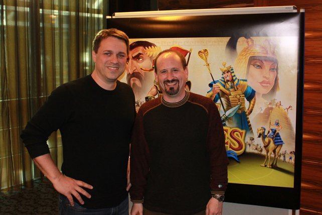 Gut gelaunt Entwickler Chris Taylor (links) und Danan Davis.