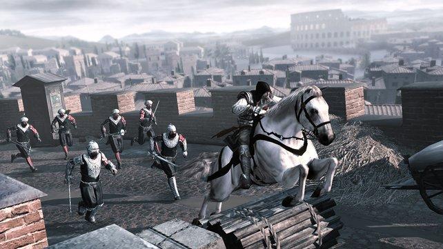 Seit Assassin's Creed 2 könnt ihr auch mit Pferden durch Städte reiten.