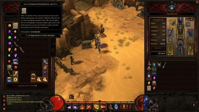 Die Seiten des Schwarzsteinbuchs sind noch ein Rätsel für Diablo-Spieler.