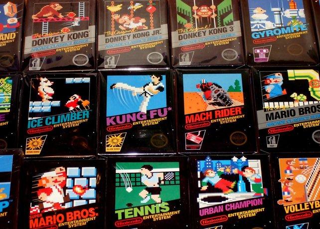 Die Pixel-Bilder auf den Verpackungen stammen unverändert aus den Spielen. Von Schönfärberei kann also keine Rede sein.