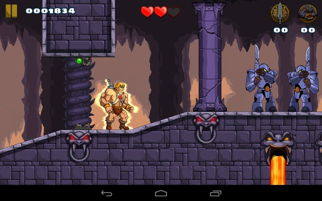 Mit simpler Haudrauf-Action schlägt sich He-Man durch abwechslungsreiche 2D-Levels.