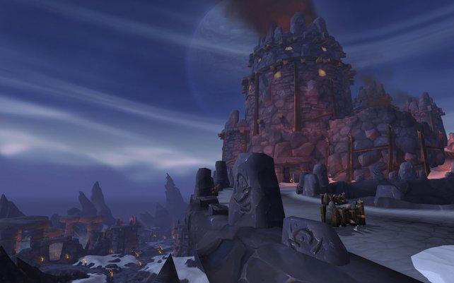 Die eisige Gegend von Frostfeuergrat bildet den Ausgangspunkt der Horde.