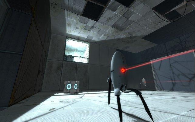 Ein typisches Level in Portal 2.
