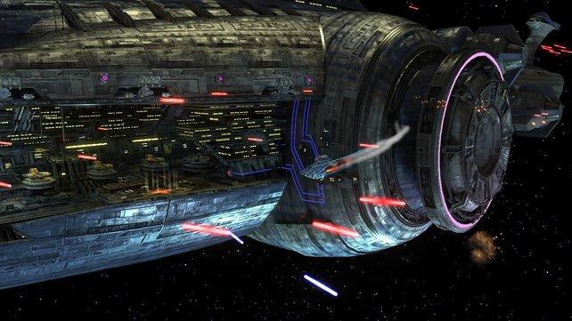 Die Raumschiffe sehen gar nicht so sehr nach Lego aus.