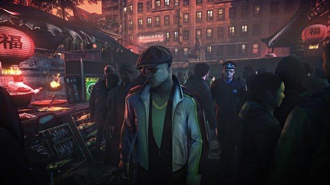 Die Spielwelt wirkt durch die vielen Pixelmenschen lebendig.