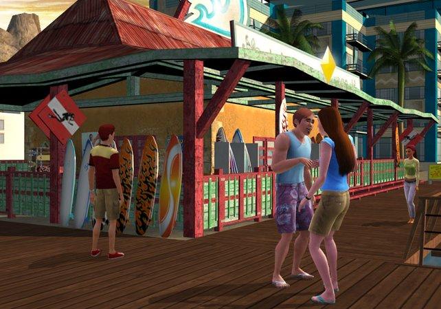 Auf dem Wii-System lebt Ihr Urlaubsfeeling im Strand-Setting aus.