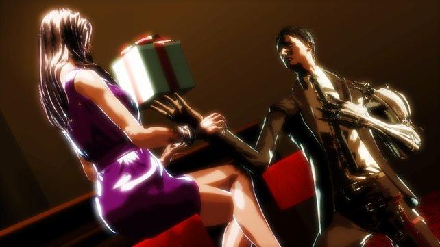 Theatralisch: Mondo legt sich bei der Damenwelt ins Zeug.
