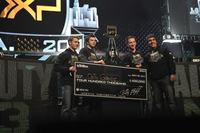 Die Turniersieger Optic Gaming ergatterten 400.000 Dollar.