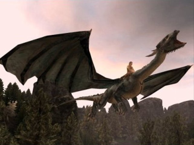 Eragon auf dem Drachen